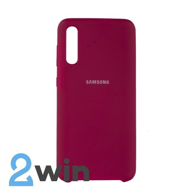 Чехол Jelly Silicone Case Samsung A50 Бордовый