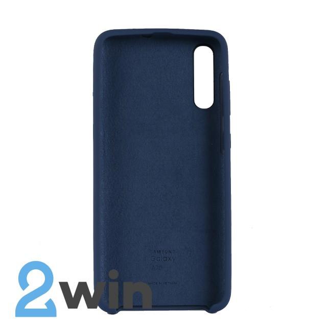 Чехол Jelly Silicone Case Samsung A70 Синий Кобальт