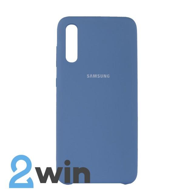 Чохол Jelly Silicone Case Samsung A70 Лазурний