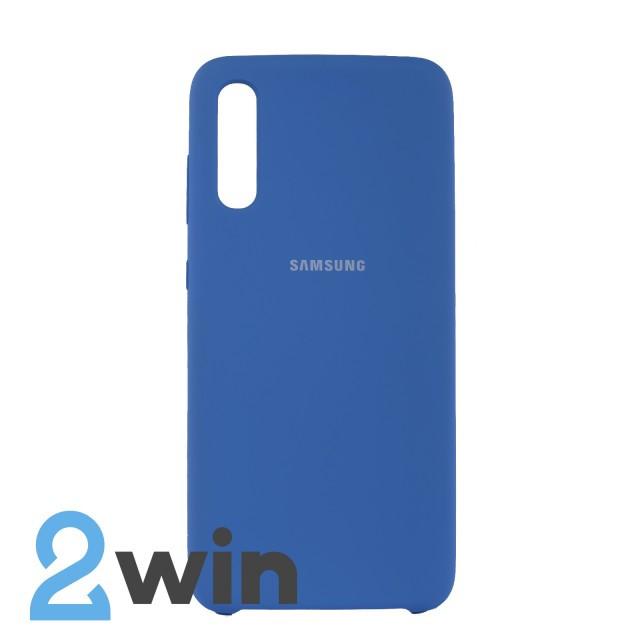 Чехол Jelly Silicone Case Samsung A70 Тахо Синий