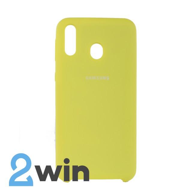 Чехол Jelly Silicone Case Samsung M20 Лимонный