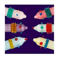 Стимулирующие презервативы усики шипы Extra Sensitive (упаковка 6шт, синий) оригинал 6934439715867с