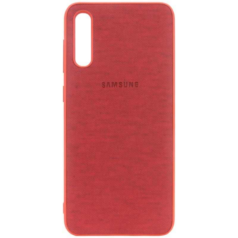 TPU чехол Textile Logo для Samsung Galaxy A70 (A705F)