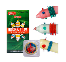 Стимулирующие презервативы усики и шипы Extra Sensitive (упаковка 6шт, зеленый) оригинал 693 443 971 586