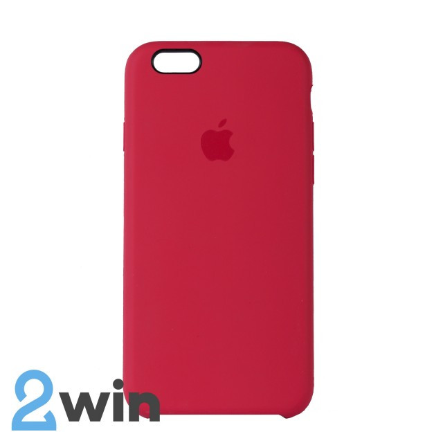 Чехол Silicone Case iPhone 6/6s Copy Red Mold Color (39)