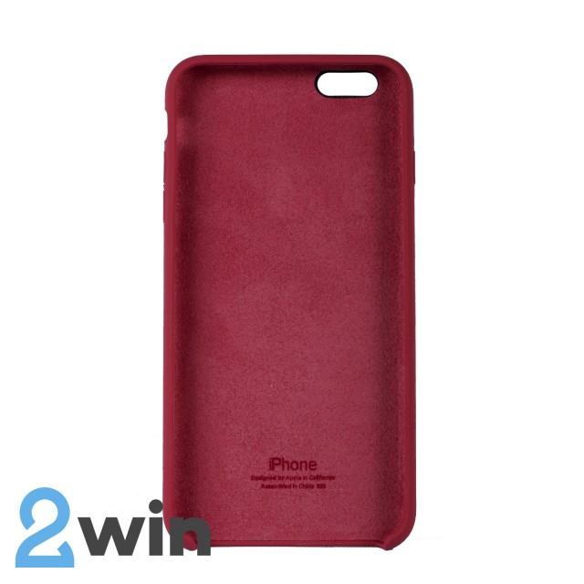 Чехол Silicone Case iPhone 6/6s Plus Copy Camelia Red (25)