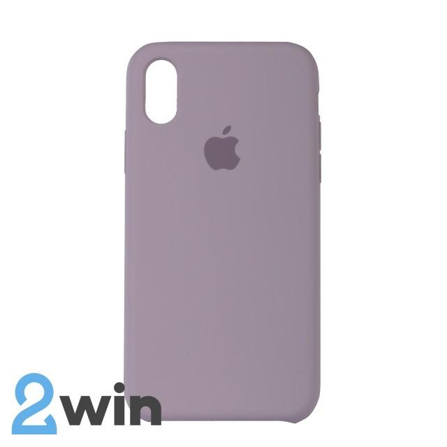 Чехол Silicone Case iPhone X/XS Copy Lavender Purple (7)