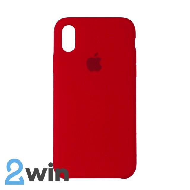 Чехол Silicone Case iPhone X/XS Copy Red (14)
