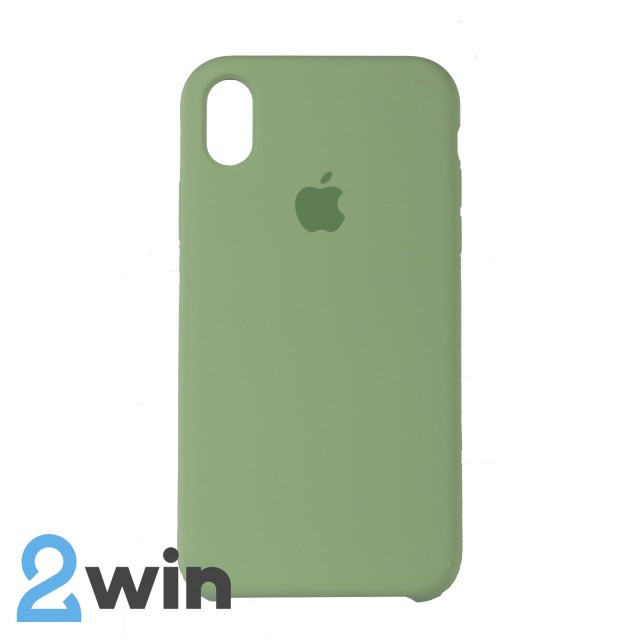 Чехол Silicone Case iPhone XR Copy Mint (1)