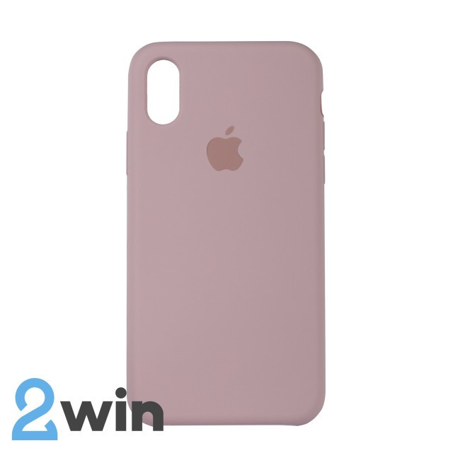 Чехол Silicone Case iPhone X/XS Copy Sand Pink (19)