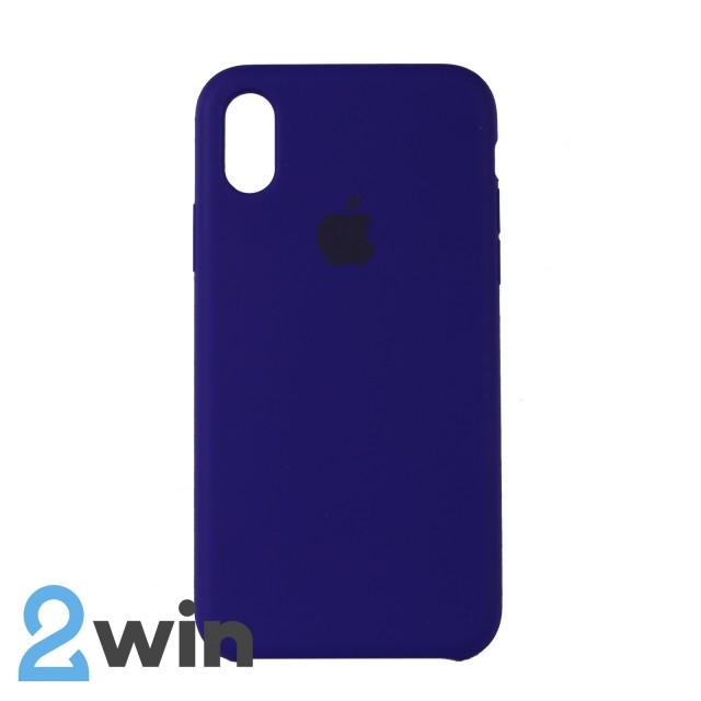 Чехол Silicone Case iPhone X/XS Copy Purple (30)