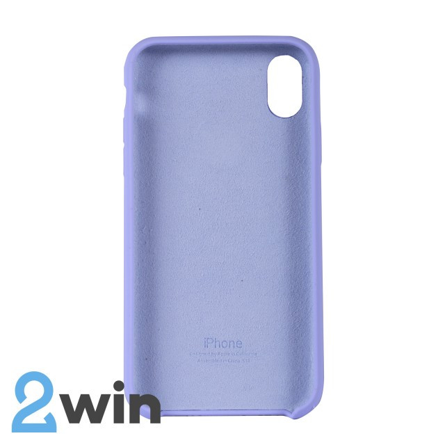 Чохол Silicone Case iPhone XR Copy White Purple (41)