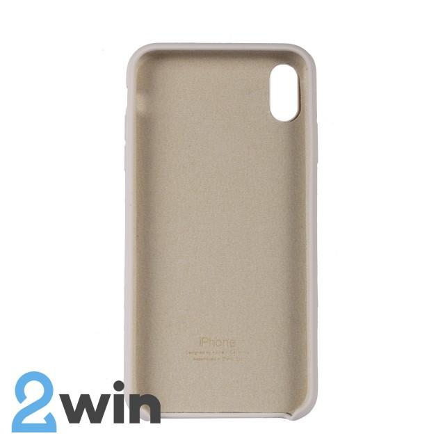 Чехол Silicone Case iPhone XS MAX Copy Antique White (11)