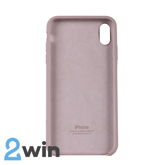 Чехол Silicone Case iPhone XS MAX Copy Sand Pink (19)