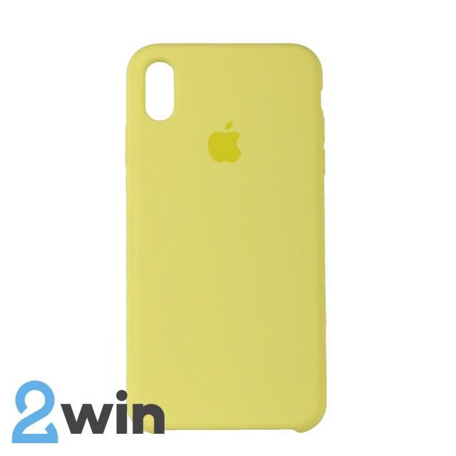 Чехол Silicone Case iPhone XS MAX Copy Shiny Yellow (32)