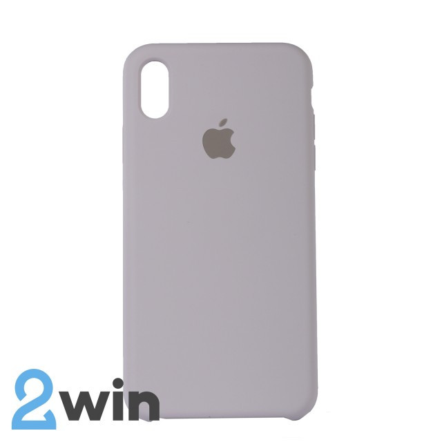 Чехол Silicone Case iPhone XS MAX Copy French Grey (43)