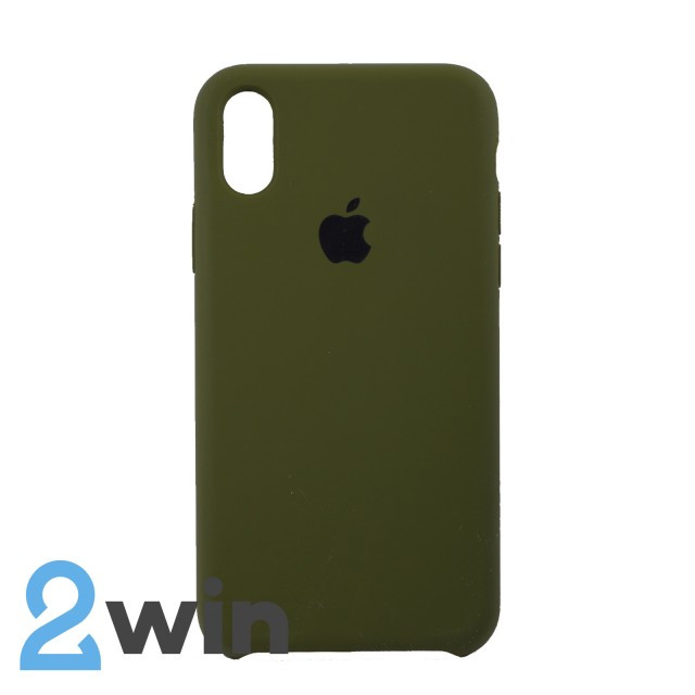 Чехол Silicone Case iPhone X/XS Copy Pine Forest Green (48)