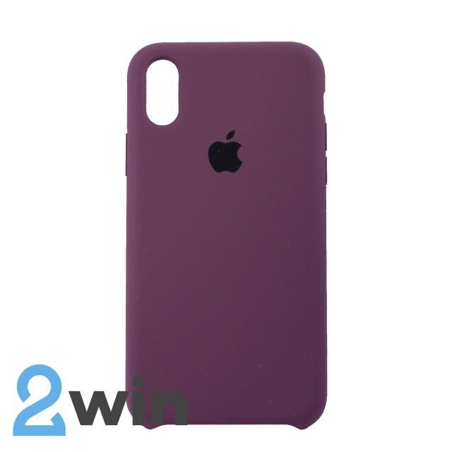 Чехол Silicone Case iPhone X/XS Copy Violet (52)