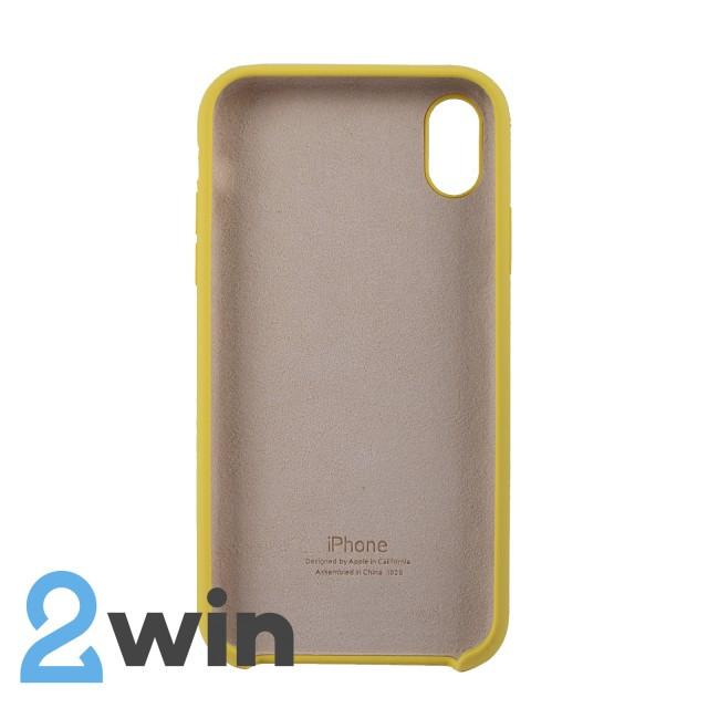 Чехол Silicone Case iPhone XR Copy Light Yellow (55)