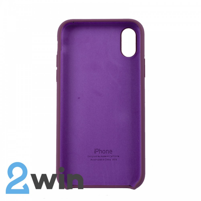 Чохол Silicone Case iPhone XS MAX Copy Violet (52)