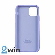 Чохол Silicone Case iPhone Copy 11 Pro White Purple (41), фото 2