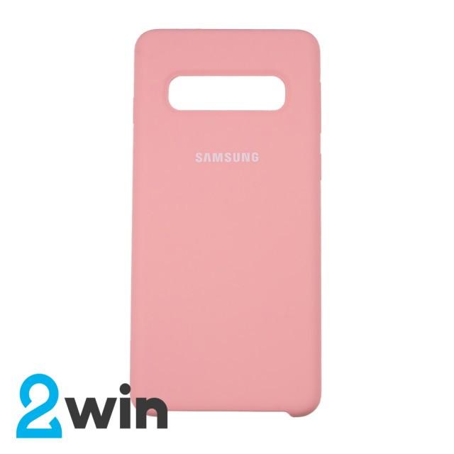 Чехол Silicone Case Original Samsung S10 Светло-розовый