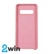 Чехол Silicone Case Original Samsung S10 Светло-розовый, фото 2