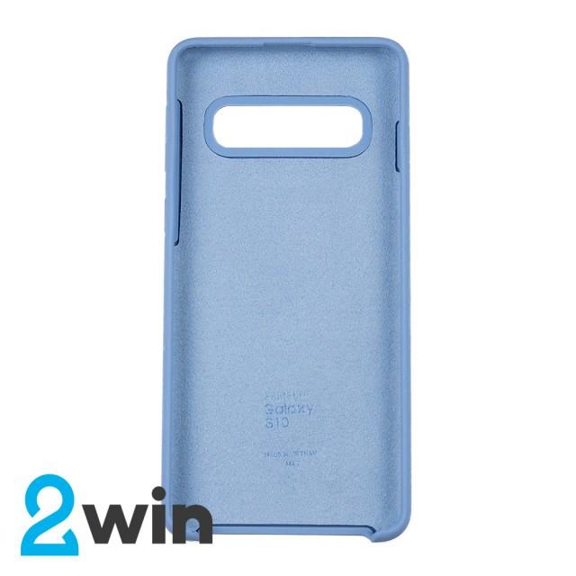 Чехол Silicone Case Original Samsung S10 Голубой