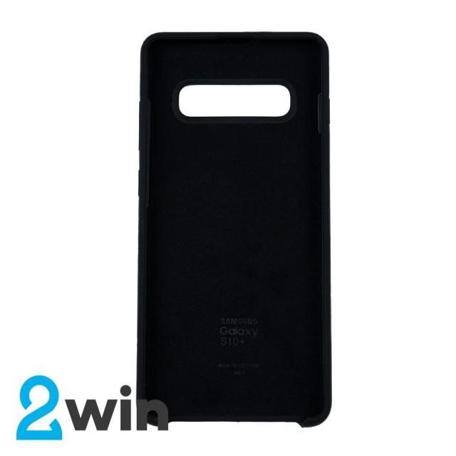 Чехол Silicone Case Original Samsung S10 Plus Черный