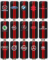 Чехол люкс авто карбон Iphone 4 4S 5 5S SE 5C Принт