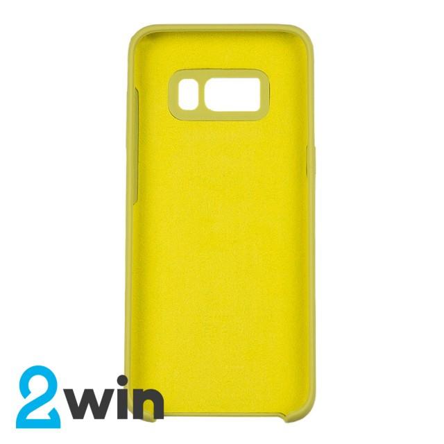 Чехол Silicone Case Original Samsung S8 Бледно-желтый