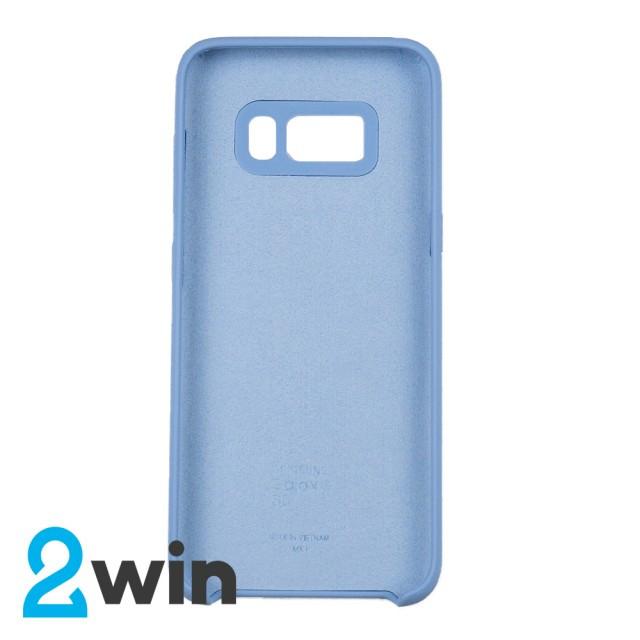 Чехол Silicone Case Original Samsung S8 Голубой