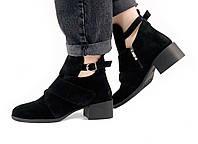 Женские ботинки I7-3298/0 MORENTO (натуральная замша,натуральная кожа, весна/осень)