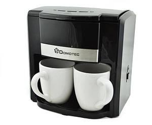 Капельная кофеварка на 2 кружки DOMOTEC MS-0705 ORIGINAL (кружки в комплекте)