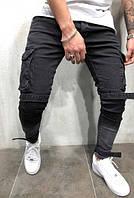 Мужские модные джинсы черные