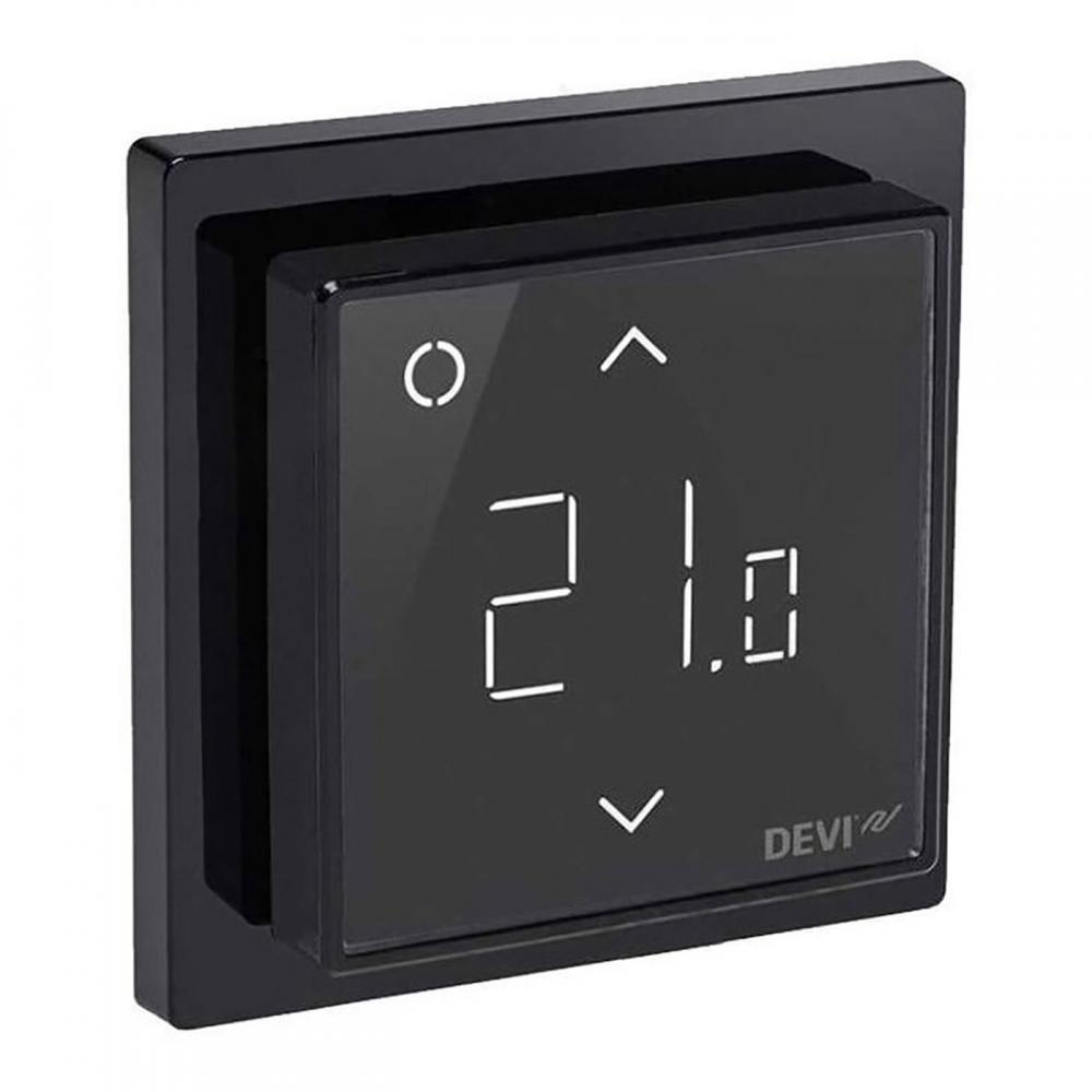Терморегулятор DEVI Devireg Smart, (+5+45С), Wi-Fi, 85х85мм, макс.15A Black (140F1143)