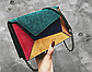Модная женская замшевая сумка разноцветная код 3-449, фото 2