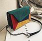 Модная женская замшевая сумка разноцветная код 3-449, фото 3