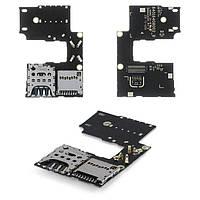 Конектор SIM-карти для Motorola XT1540 Moto G3 (3nd Gen), XT1541 Moto G3 (3nd Gen), XT1548 Moto G3 (3nd Gen), для однієї SIM-карти, з шлейфом