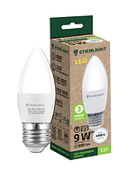 Свеча Лампа светодиодная ENERLIGHT С37 9Вт E27 4100K ш.к4823093503502 10шт / уп