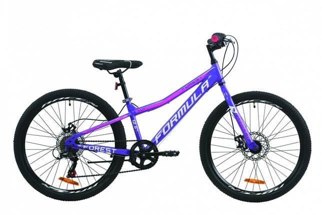 """Велосипед 24"""" Formula FOREST DD 2020 (фиолетово-белый с малиновым), фото 2"""