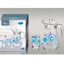 Набор для сока 7пр Голубой глаз 6*240мл+графин 1,5л TG/ 1055