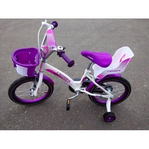 Детский двухколесный велосипед KIDS BIKE CROSSER 3 фиолетовый 16 дюймов