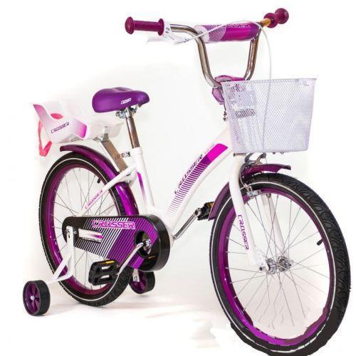 Дитячий двоколісний велосипед KIDS BIKE CROSSER 3 фіолетовий 20 дюймів