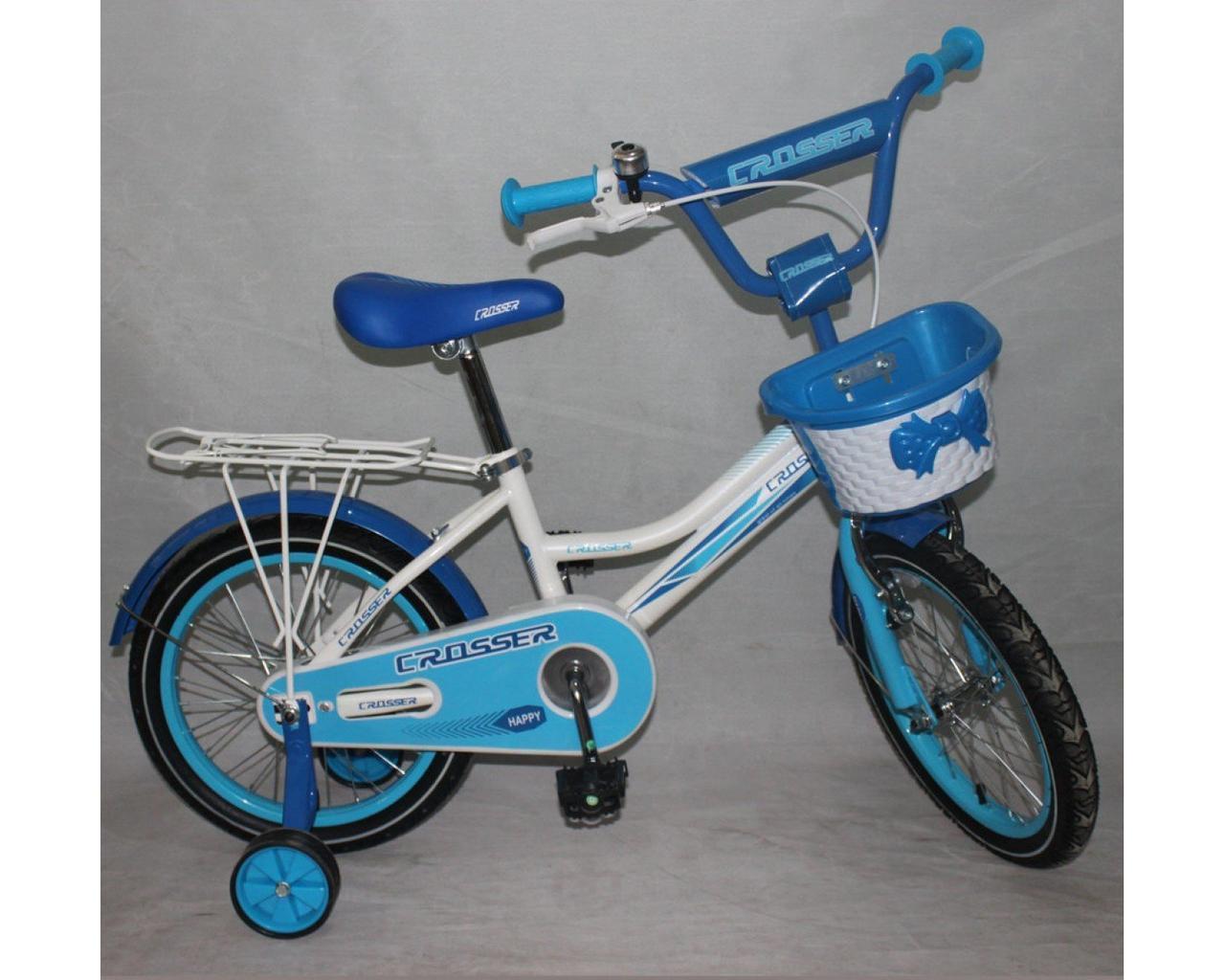 Детский двухколесный велосипед HAPPY CROSSER 4 зеленый 16 дюймов