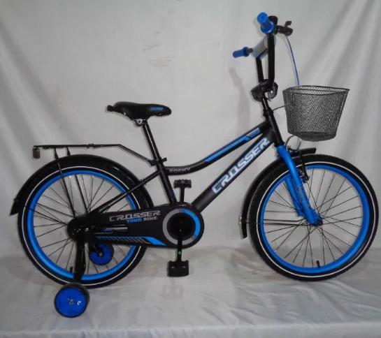 Детский двухколесный велосипед  Crosser Rocky 13 синий 18 дюймов