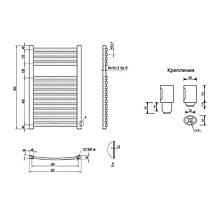 Водяной полотенцесушитель Q-tap Dias (SIL) P15 800x500 HY, фото 2