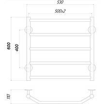 Полотенцесушитель водяной Q-tap Trapezium P5 500x600, фото 2