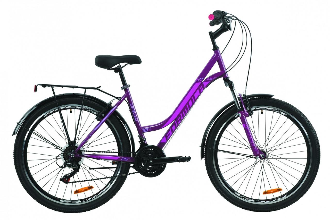 """Велосипед 26"""" Formula OMEGA 2020 (перламутровий сиреневый с малиновым)"""