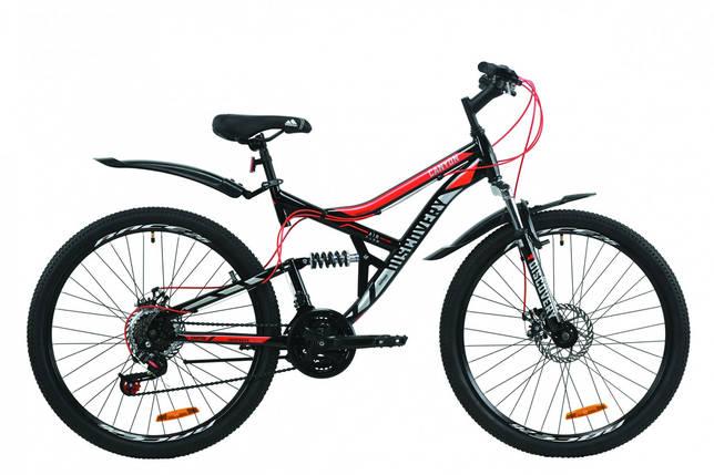 """Велосипед ST 26"""" Discovery CANYON AM2 DD с крылом Pl 2020 (черно-красный с серым), фото 2"""